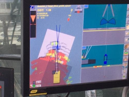 Kontrollskjerm ombord i Frøy